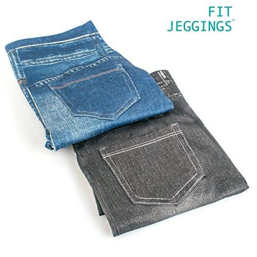 Fitjeggings Morbido Denim blu Leggins Jeans Silhouette Avvolgente 4U6qwC
