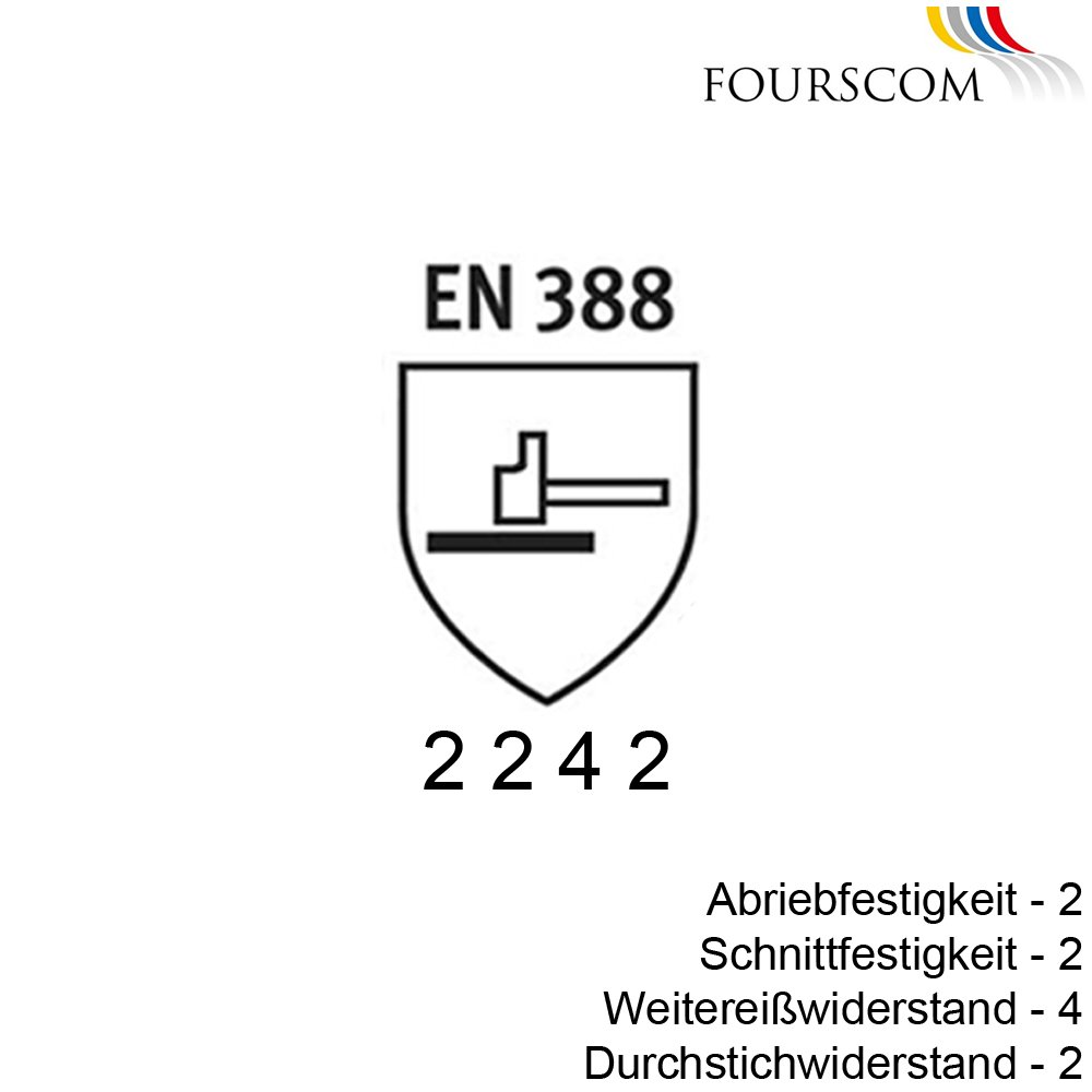 12 Paar FOURSCOM Arbeitshandschuhe Latexhandschuhe Gr.7-12 EN388//2242 CAT 2 Gr/ö/ße 7