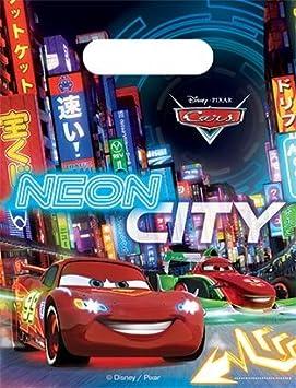 Neon Cars bolsas de fiesta cumpleaños infantiles: Amazon.es ...