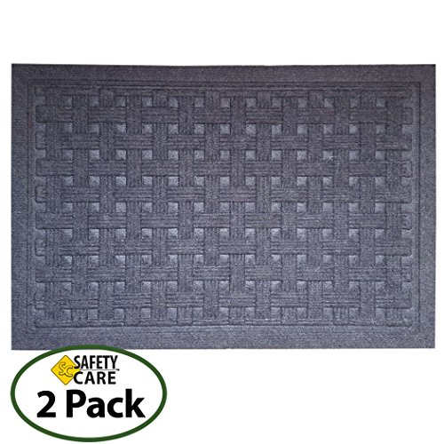 SafetyCare Heavy Duty Rubber Backed Charcoal Grey Doormat -