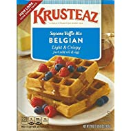 Krusteaz Light & Crispy Belgian Waffle Mix - No Artificial Flavors, Colors, or Preservatives - 28 OZ (Pack of 2) (Packaging May Vary)