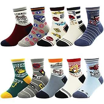 storeofbaby Baby Dress Socks 10 Pairs Toddler Non Slip Winter Cotton Crew Socks
