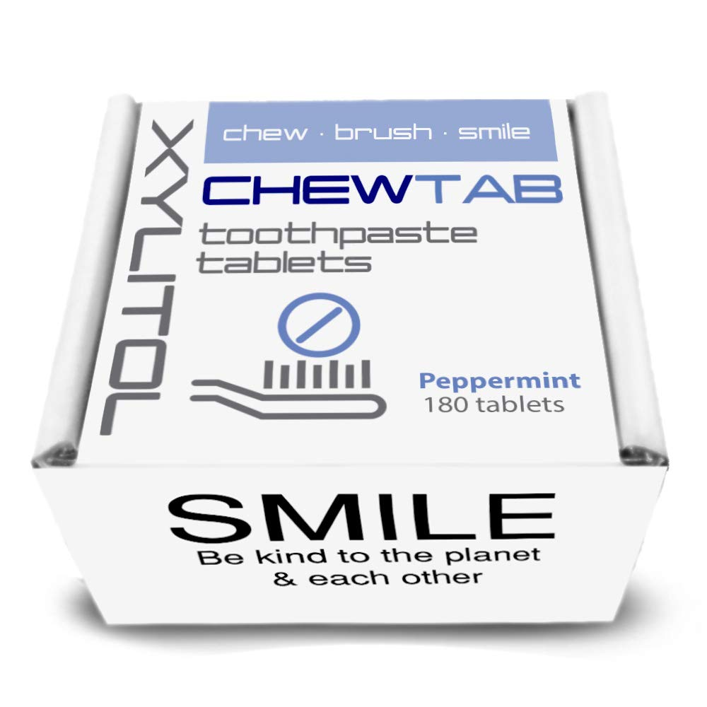Chewtab Toothpaste Tablets, Peppermint, Zero Waste Refill