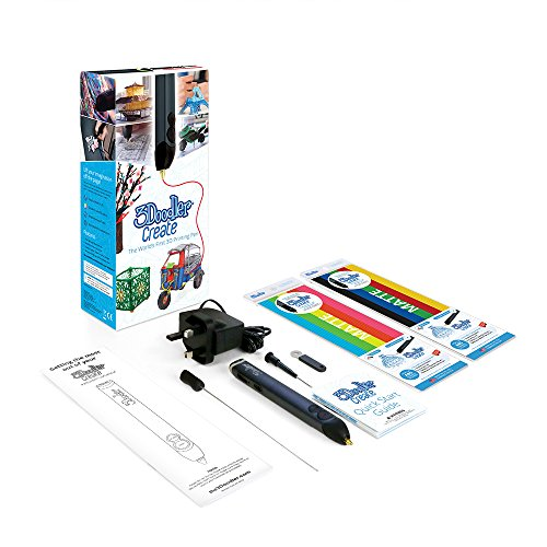 3Doodler Create 3D Pen With 50 Plastic Strands, No Mess, Non-Toxic - Smoky Blue