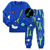 AmberEft Space Pajamas for Boys Size 6 Kids Clothes Toddler PJs Sets Long Sleeve Sleepwear