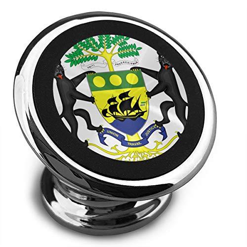 Coat Gabon - Coat of Arms of Gabon Universal Gray Smartphone Car Mount Holder Cradle for Smartphones and Mini Tablets
