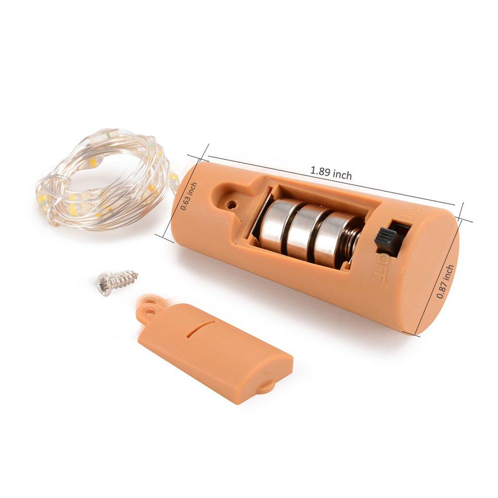 LED Flaschenlicht Lichterkette, ATKKE 6er Pack 15 LEDs 2.4ft (7,3m ...