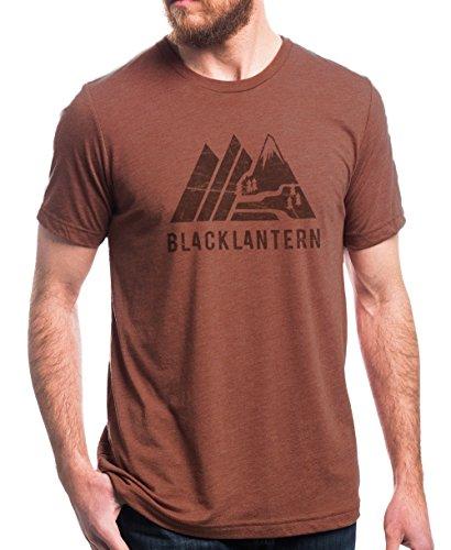 Men's T-Shirt - Retro Mountain Tee - Men's/Unisex Heather Clay T-Shirt (Mountain Heather)