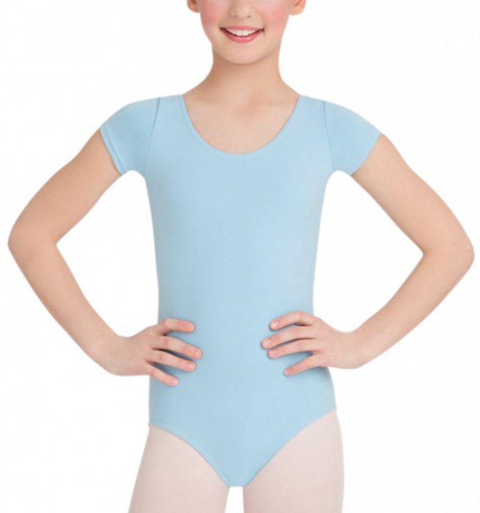 Amy Leotard Short Sleeve Cotton Childs Leotard Living Dance