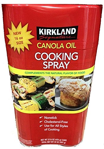 8 Pack Wholesale Lot Kirkland Signature Canola Oil Cooking Spray, 16 Cans Total