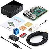 ABOX Raspberry Pi 3 Model B Ultimate Starter Kit with 32GB Class 10 SanDisk Micro SD Card and 2.5A on/off Switch Power Supply