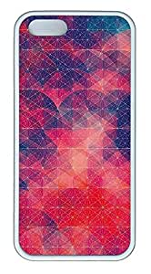 iPhone 5 5S Case Simple Red Geometric Circles TPU Custom iPhone 5 5S Case Cover White