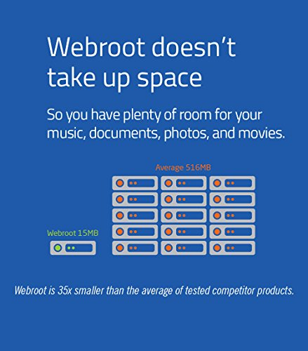 Webroot Antivirus Protection Internet Security | 3 Device | 1 Year Subscription | PC/Mac Disc
