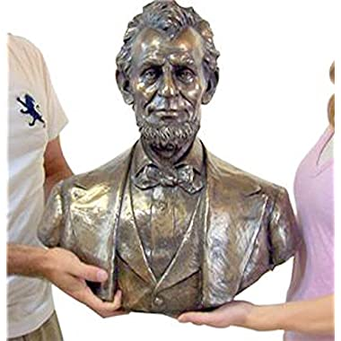 Abraham Abe Lincoln 20  Huge Bust Bronze Stone Statue School Classroom Decor