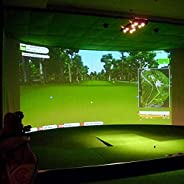 Indoor Golf Simulator Impact Screen for Beginners Large Projection Screen Curtain for Golf Exercise Golf Targe