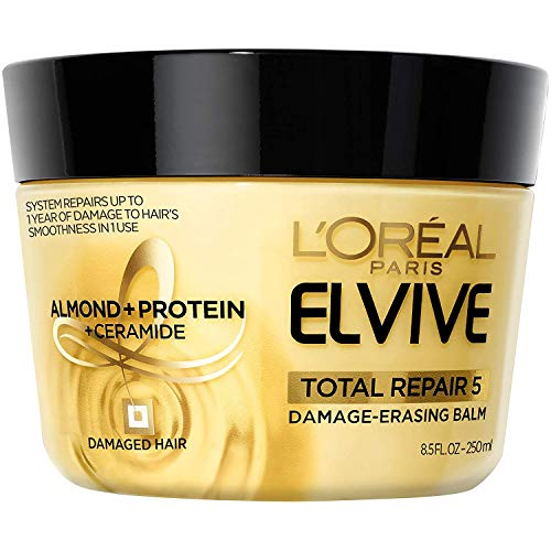 L'Oreal Paris Elvive Total Repair 5 Damage-Erasing Balm with Almond and Protein, 8.5 Ounce