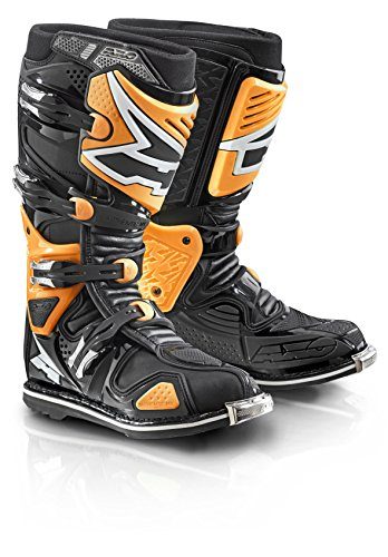 AXO A2 Boots (Black/Fluorescent-Orange, Size 8)