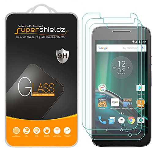 [3-Pack] Supershieldz for Motorola Moto G Play / Moto G4 Play / Moto G Play (4th Gen) Tempered Glass Screen Protector, Anti-Scratch, Anti-Fingerprint, Bubble Free, Lifetime Replacement Warranty