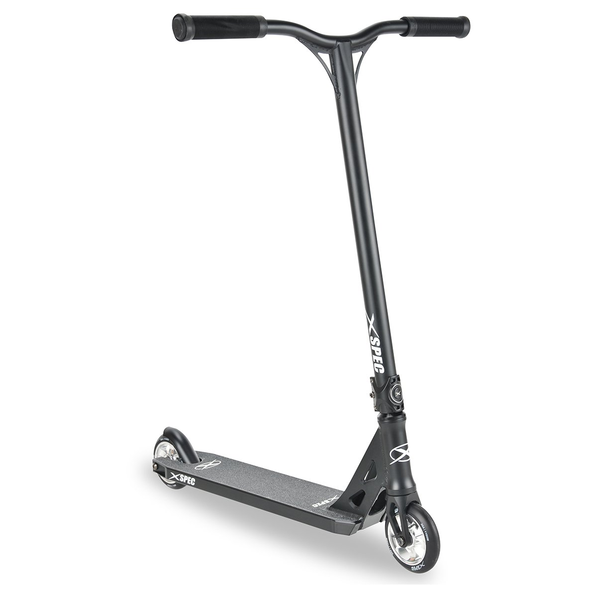 Xspec 912 Pro Stunt Kick Scooter w/Strong 6061 Aluminum Deck - 220lb Weight Limit - Chromoly Handle Bars & TPR Rubber Hand Grips - ABEC-7 Bearing by Xspec