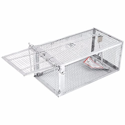 "AB Traps Pro-Quality Live Animal Humane Trap Catch and Release Rats Mouse Mice Rodents Squirrels and Similar Sized Pests - Safe and Effective - 10.5"" x 5.5"" x 4.5"" Single Door"