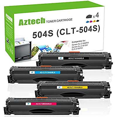 Aztech Compatible Toner Cartridge Replacement for Samsung CLT-P504C CLT-K504S CLT P504C K504S C504S M504S Y504S Toner for Samsung Xpress C1860FW C1810W CLX 4195FN 4195FW CLP 415N CLP-415NW CLP-415N