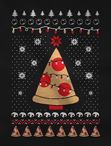 Natale A Pizza Bambina Di Rosso T shirt Maglietta Forma Albero Divertente q5OtAqX