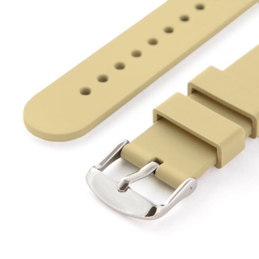 Amazon.com: Archer Watch Straps Silicone Quick Release Soft Rubber Replacement Watch Bands for Men and Women (Sand, 16mm): Watches