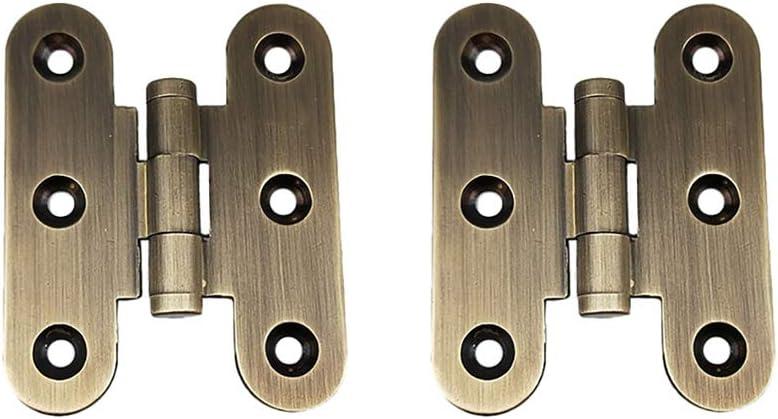 Tiazza - Bisagra plegable para máquina de coser, 2 unidades, latón envejecido, bisagras en forma de H para muebles plegables