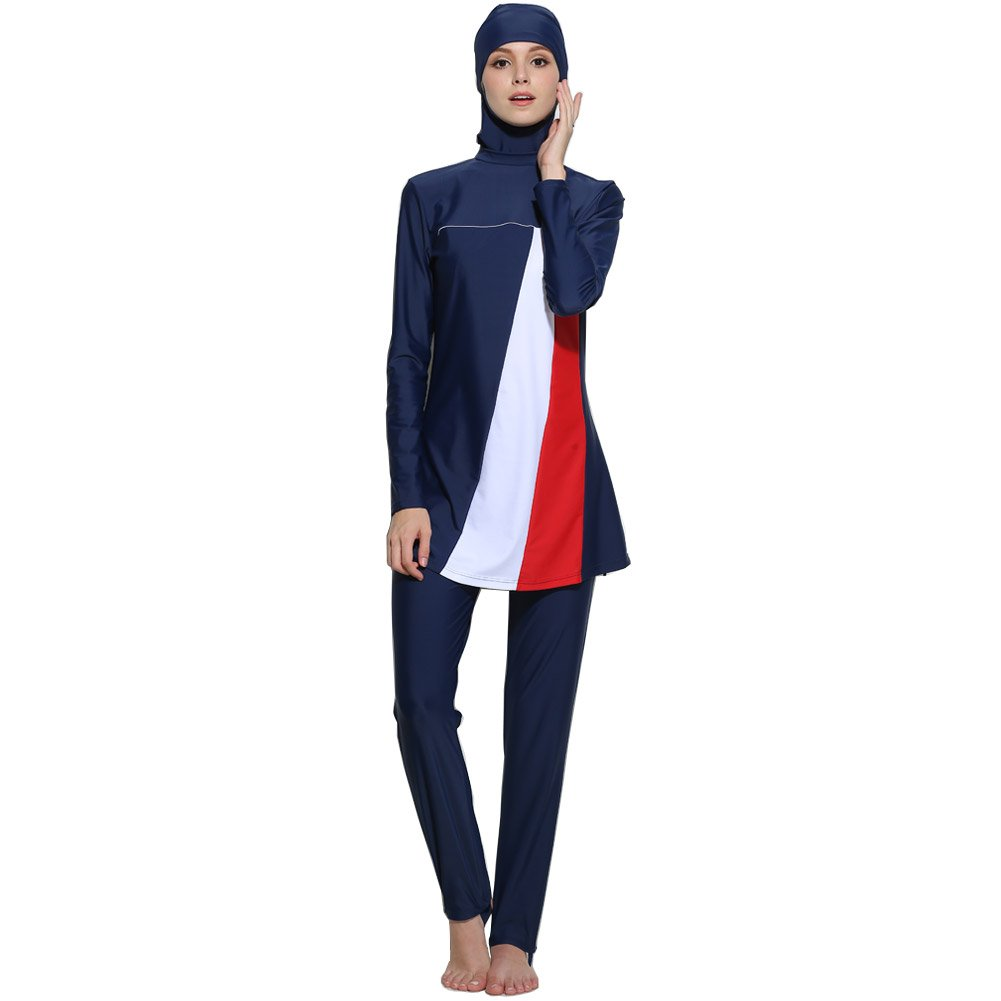 Lazy Cat Muslim Swimwear for Women Islamic Hijab Modest Swimsuit Burkini