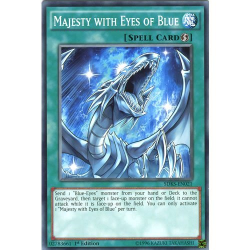 YuGiOh : SDKS-EN021 1st Ed Majesty with Eyes of Blue Common