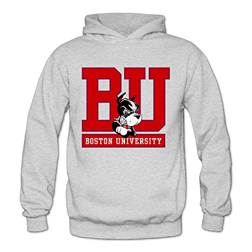 MARC Women's Boston Mascot Terrier University Hoodie Ash Size - Rayban Polaroid