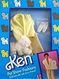 Barbie KEN Pet Show Fashions w Furry Cat - Yellow Clothes (1986)