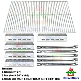 Direct store Parts Kit DG210 Replacement Ducane 30400042 - 30400043 - 30558501 Gas Grill Burners - Heat Plates - Cooking Grid (SS Burner + SS Heat Plate + Solid Stainless Steel Cooking Grid)