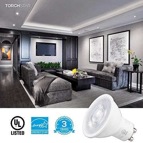 5000K Daylight Spotlight Bulb for Track Lighting Energy Star /& UL-Listed 500lm 50W Eqv 3 Years Warranty Recessed Light TORCHSTAR 6.5W Dimmable LED MR16 GU10 Base Light Bulb