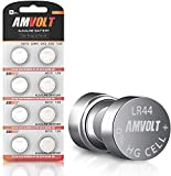 LR44 AG13 A76 Battery - [Ultra Power] Premium Alkaline 1.5 Volt Non Rechargeable Round Button Cell Batteries for Watches Clocks Remotes Games Controllers Toys & Electronic Devices