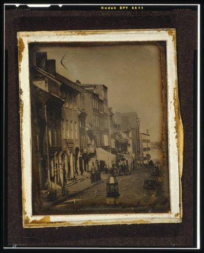 Photo: Chestnut Street,Philadelphia,Pennsylvania,PA,c1843,John - Philadelphia Street Chestnut Stores