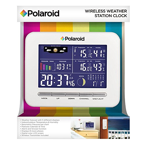 Polaroid PDC001 Wireless Weather Station Clock