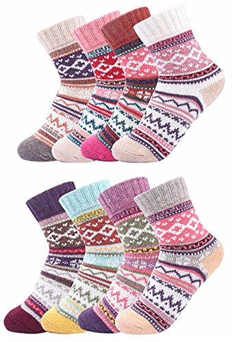 Luxina-8-Pairs-Thick-Wool-Knitting-Autumn-Winter-Warm-Socks-for-Women