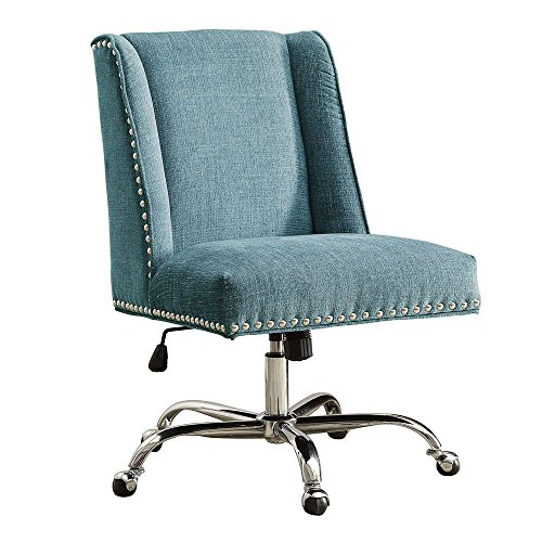 Draper Armless Chair with Chrome Base in Fabric Dimensions: