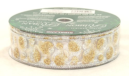 Kirkland Signature Wire-Edged Ribbons STYLE 15B15 GOLD/SILVER BOX 14