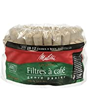 Melitta 629350 Super Premium Natural Brown Basket Coffee Filters 100s, Green