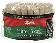 Melitta 629350 Super Premium Natural Brown Basket Coffee Filters 100s, Green