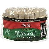 Melitta 629350 Basket 100's Poly Bagmnb Filter Paper, Brown