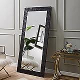 Naomi Home Mosaic Style Mirror Black/65.5' x 31.5'
