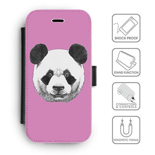 Flip PU Leather Wallet Case avec des fentes de carte de crédit // Q05300618 Panda Bronze // apple iPhone 6s 2015