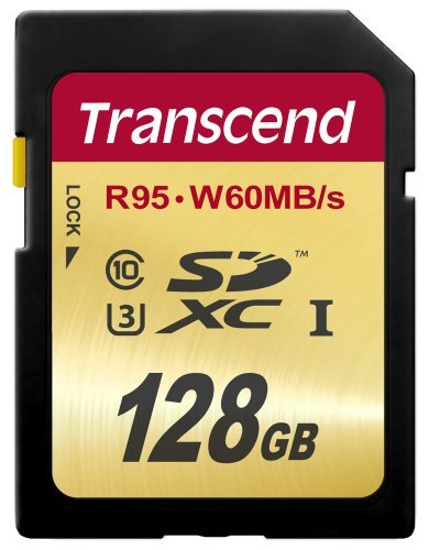 Transcend 64 GB High Speed 10 UHS-3 Flash Memory Card 95/60 MB/s (TS64GSDU3),Gold 3 Ideal for Full 1080p HDD, Ultra 2160p HD, 3D and 4K video recording.Operating Temperature -25°C(-13°F) to 85°C(185°F) Up to 95/60 MB/s ; Minimum constant 30 Mb/s write speed guaranteed for real-time video recording Supports Ultra High Speed Class 3 specification (U3)