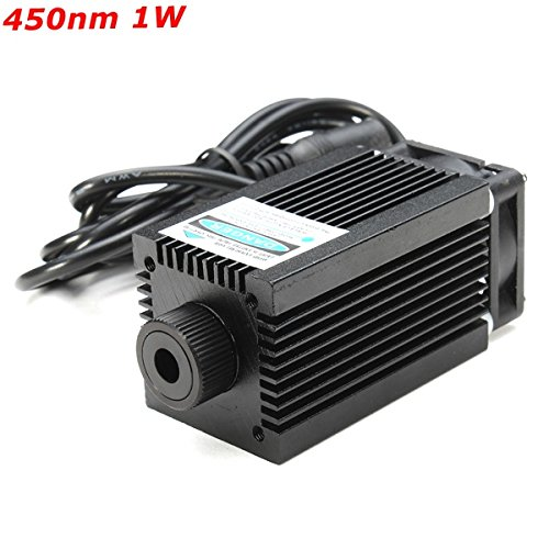450nm 1W 1000mW Blue Laser Module With Holder For DIY Laser Cutter (Laser Module 1000mw compare prices)