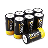Odec C battery, 5000mAh Deep Cycle NiMH Rechargeable Batteries - 8 Pack