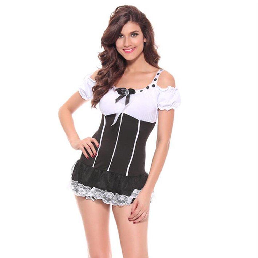 Amazon.com: Lencería para mujer sexy maid enfermera uniforme ...