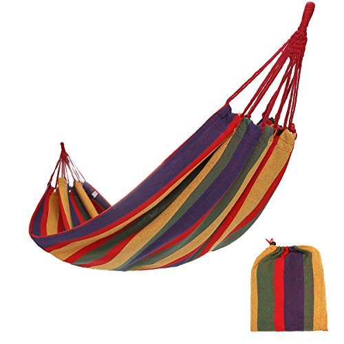 CAMEL CROWN Single Camping Hammock Lightweight Portable Colorful Backpacking,Hiking,Garden,Household,Indoor & Outdoor(Cotton,Nylon Parachute)